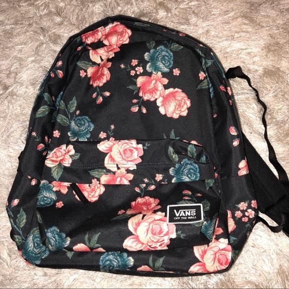 Vans floral backpack. M 5ac454f63b16086e7fbf372b b77739c90f9e5